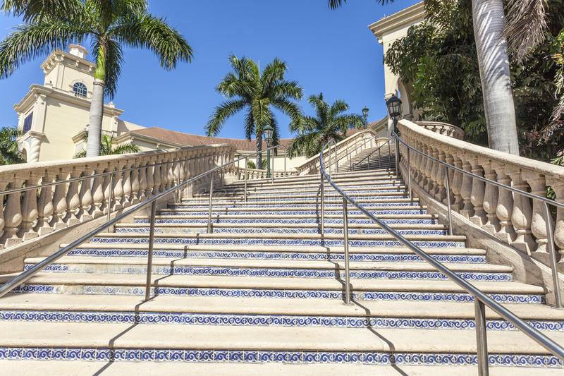 Stairway in Gulfstream Park, Florida royalty free stock image
