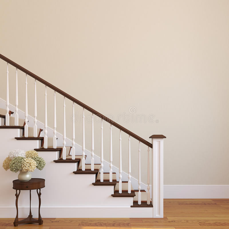 Free Stairway In The Modern House. Royalty Free Stock Photos - 33279928