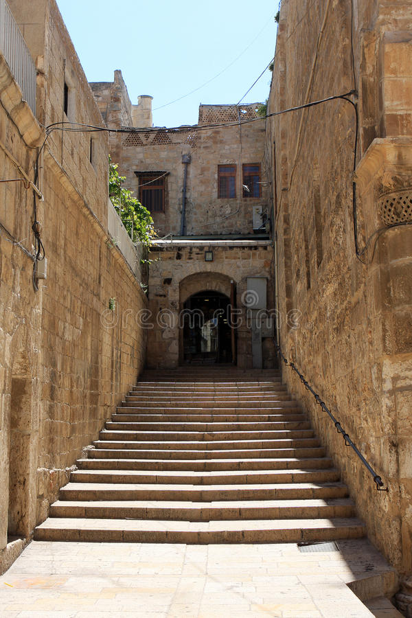 Download Stairway in Jerusalem stock image. Image of wall, outdoor - 19882793