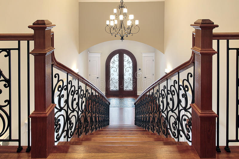 Download Stairway leading to foyer stock image. Image of dwelling - 12655693