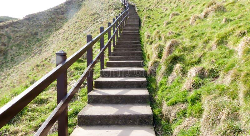 Stairway longo foto de stock