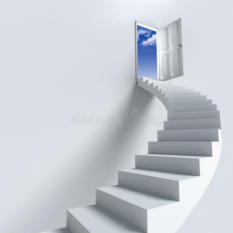 Stairway or opportunity for success stock image