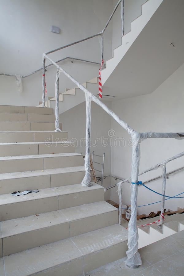 Stairway Renovation Stock Image