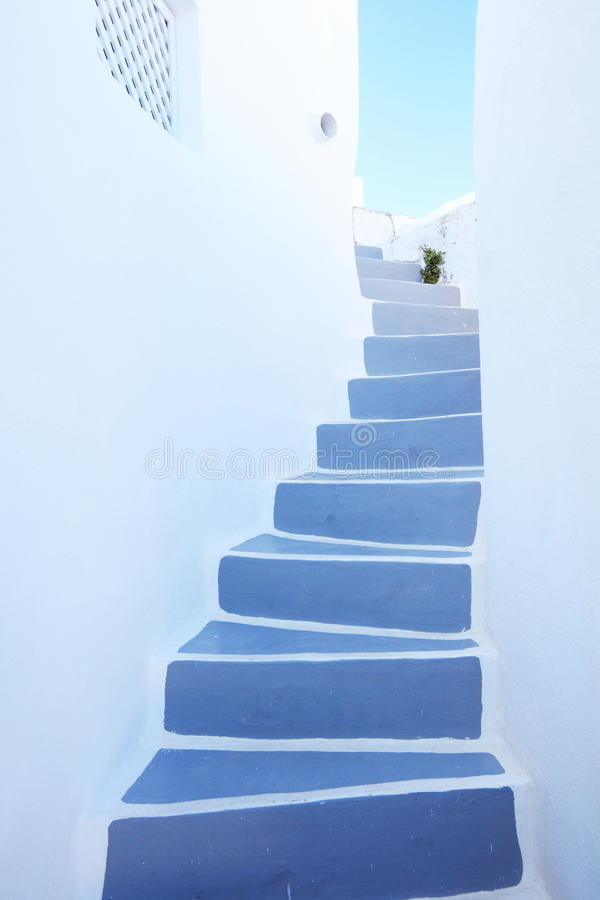 Stairway at santorini,greece stock images