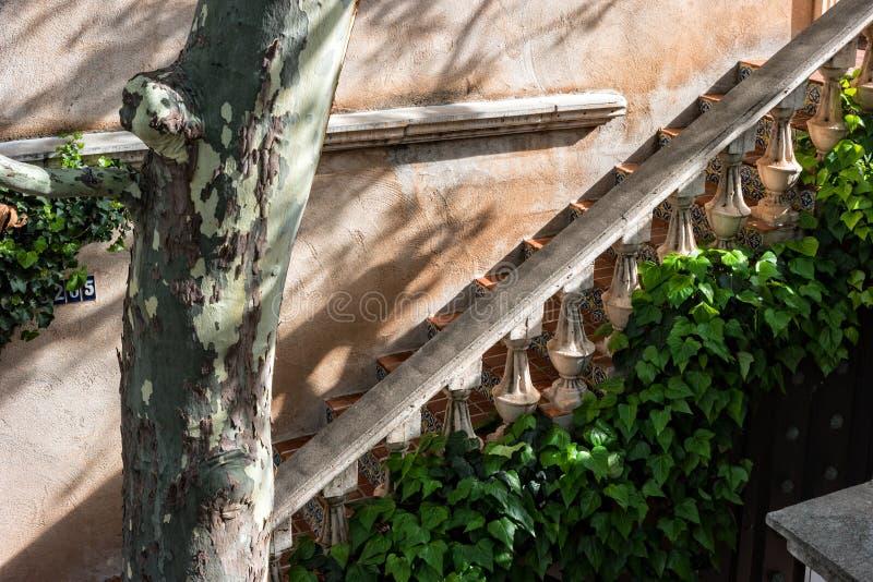 Stairway, Sedona, Arizona. Tiled stairway, Tlaquepaque in Sedona, Arizona royalty free stock photos