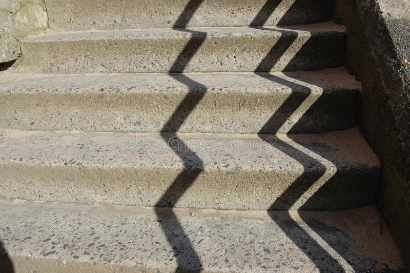 Stairway and shadow royalty free stock image