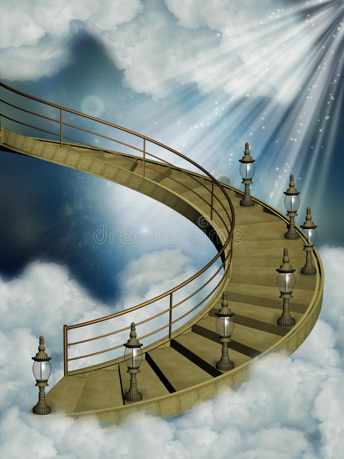Download Stairway in the sky stock illustration. Image of lighting - 25120177