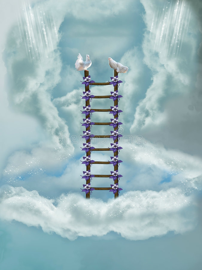Download Stairway in the sky stock illustration. Illustration of dreams - 7705507