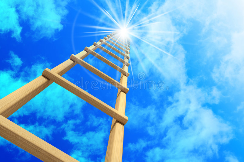Download Stairway in sky stock illustration. Image of concept, ascent - 8068424