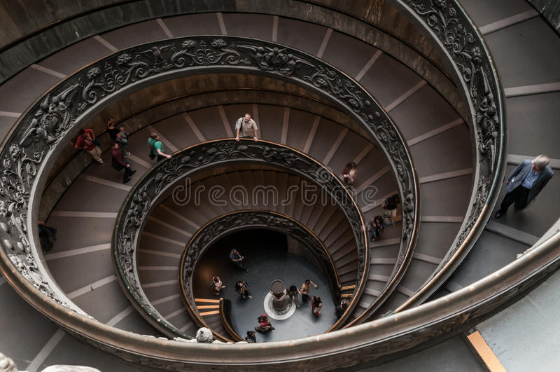 Stairway. Spiral stairway inside an old monument in rome stock images
