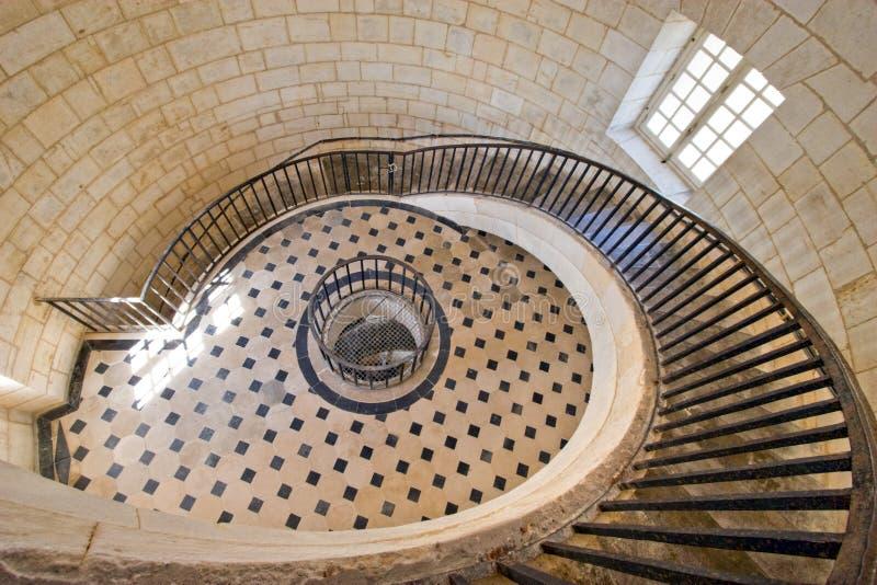 Stairway sumptuoso do farol fotografia de stock royalty free