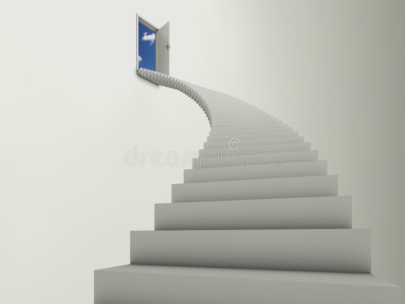Stairway to the clouds stock illustration