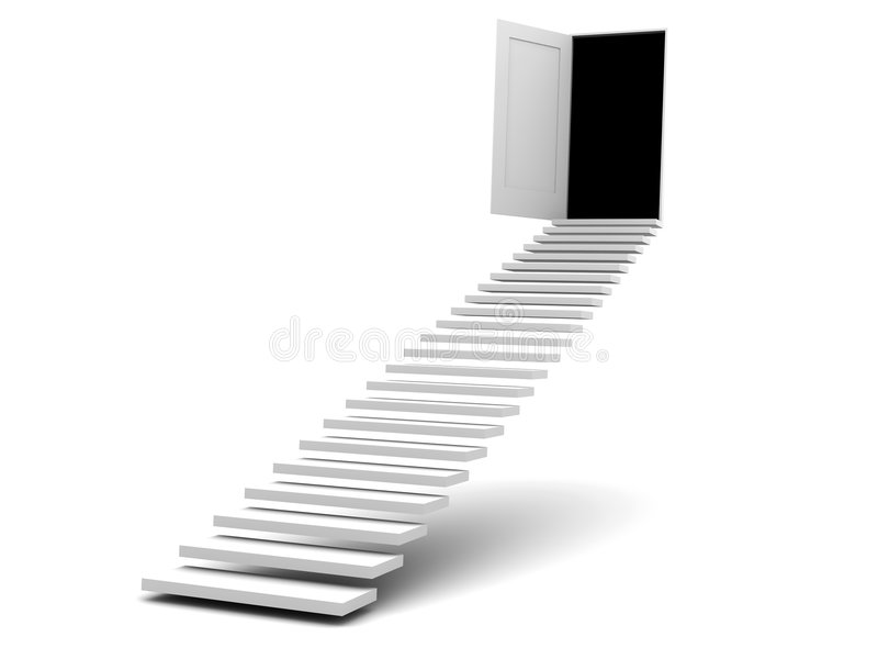 Stairway to door royalty free illustration