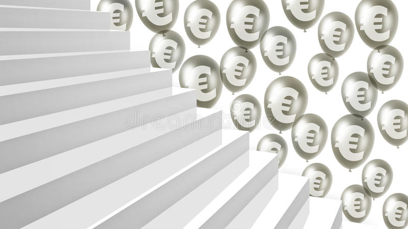 Stairway to financial success stock illustration