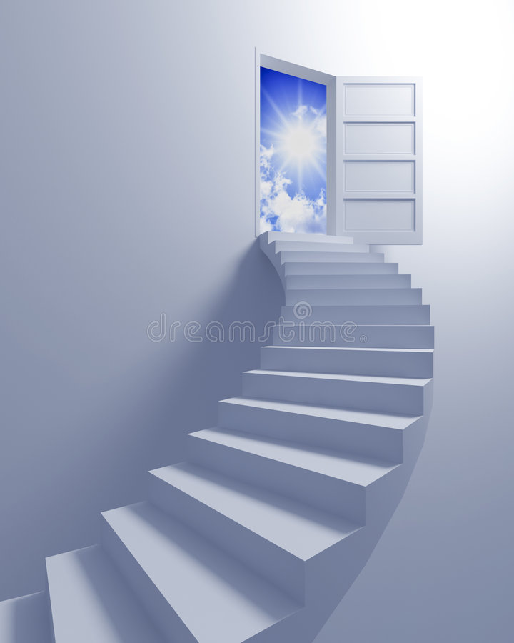 Download Stairway to the freedom stock illustration. Illustration of rendered - 8895195