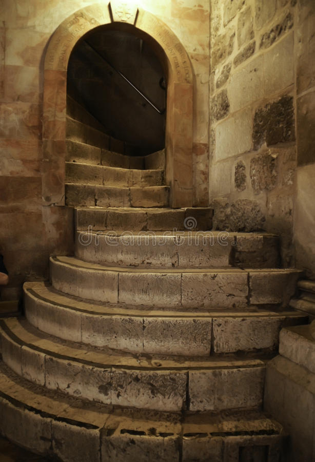Stairway to Golgotha royalty free stock images