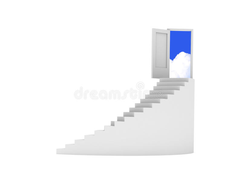 Download Stairway to heaven stock illustration. Illustration of cloudscape - 12868091
