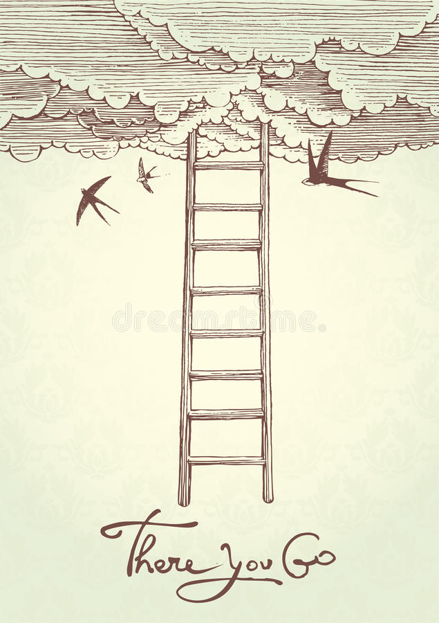 Stairway to heaven. royalty free illustration