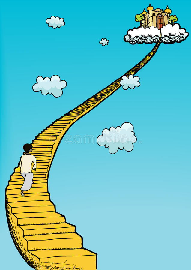 Stairway To Heaven stock illustration