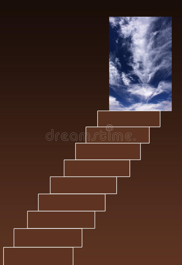 Download Stairway to heaven stock illustration. Image of imagination - 21682503