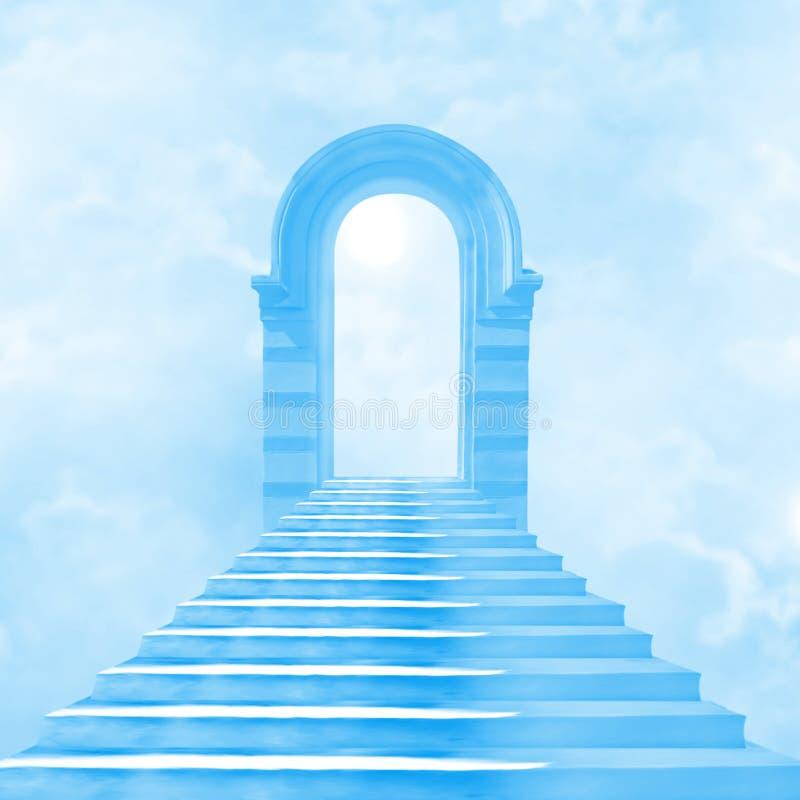 Download The stairway to heaven stock illustration. Image of door - 27073206