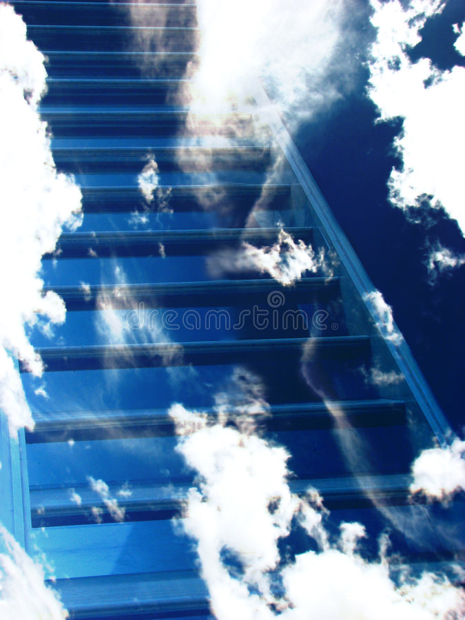 Download Stairway to Heaven stock illustration. Illustration of ladder - 3141549
