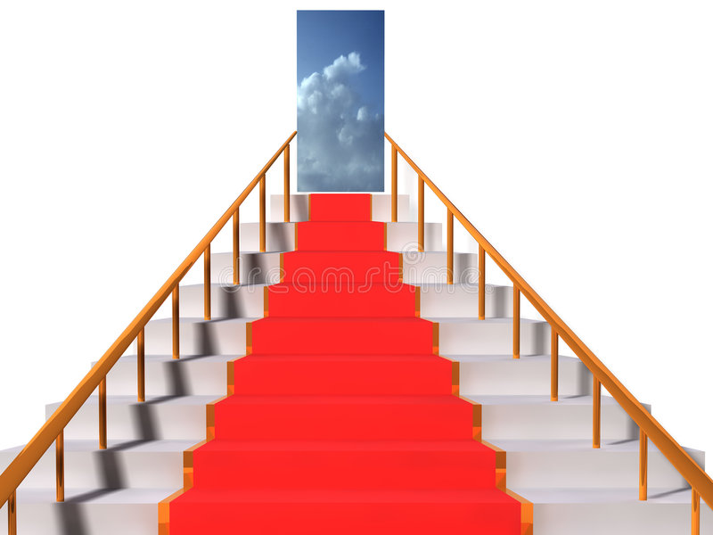 Stairway to heaven vector illustration