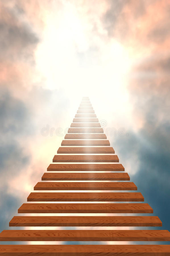 Stairway to heaven/success stock image