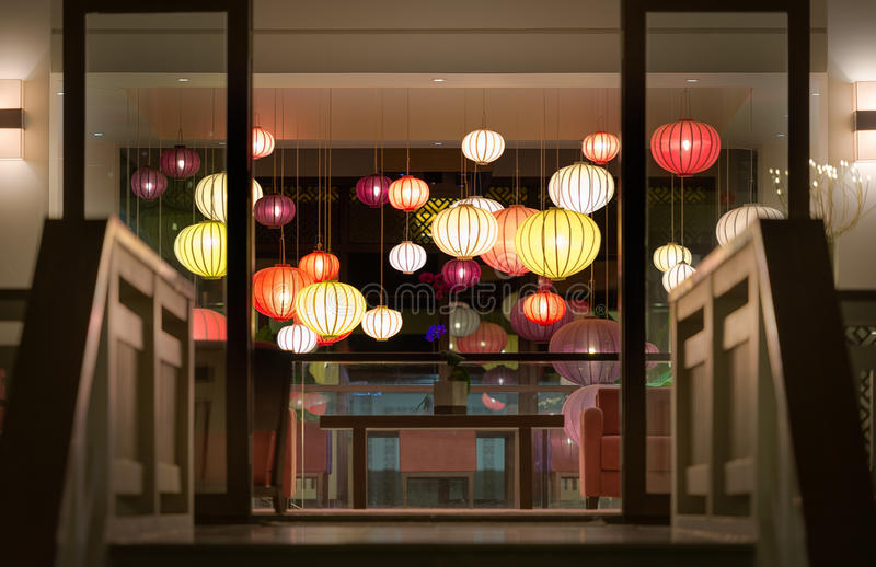 Download Hotel Reception With Lanterns In Vietnam, Asia. Stock Photo - Image: 29865818