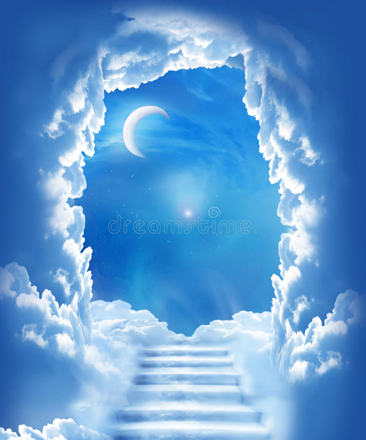 Download STAIRWAY TO THE MOON stock photo. Image of full, mysterious - 20966366