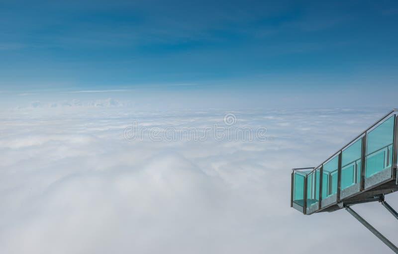 Stairway to nothingness at Dachstein mountain glacier, Steiermark, Austria stock image
