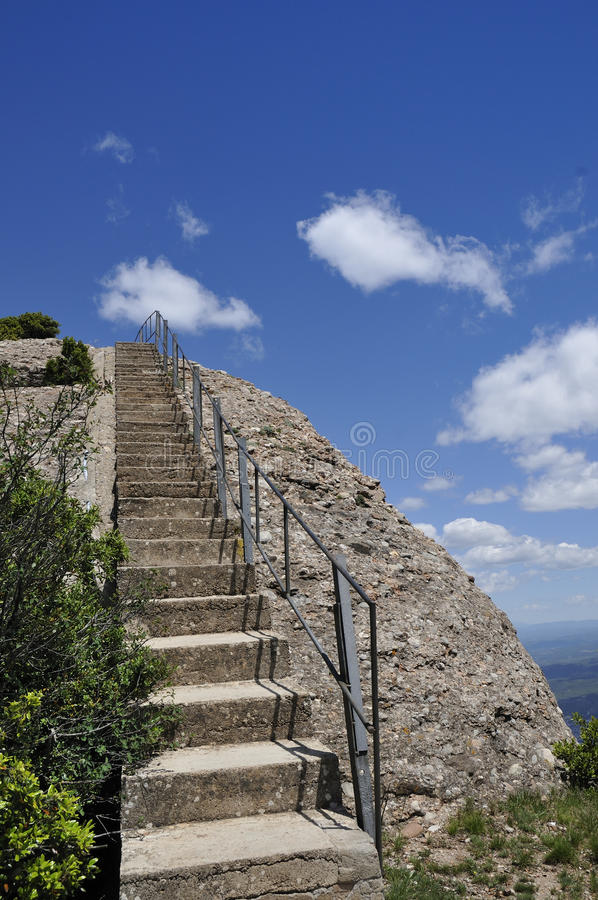 Download Stairway to sky stock photo. Image of handrail, blue - 18922264