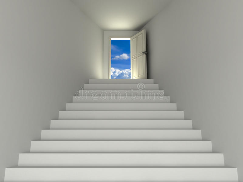 Stairway to the sky stock illustration