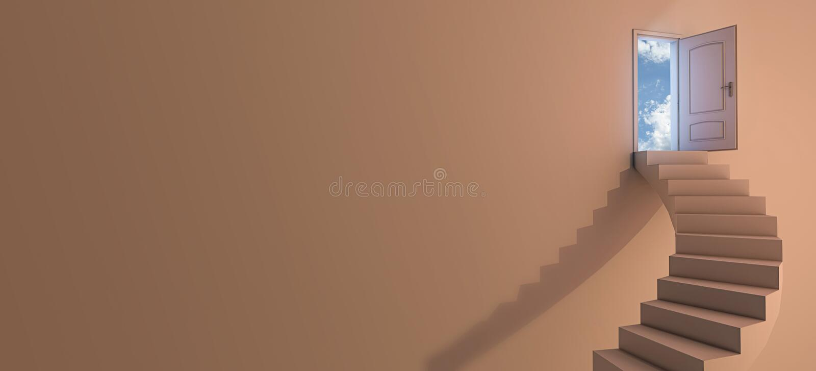 Download Stairway to the sky stock illustration. Image of freedom - 26014034