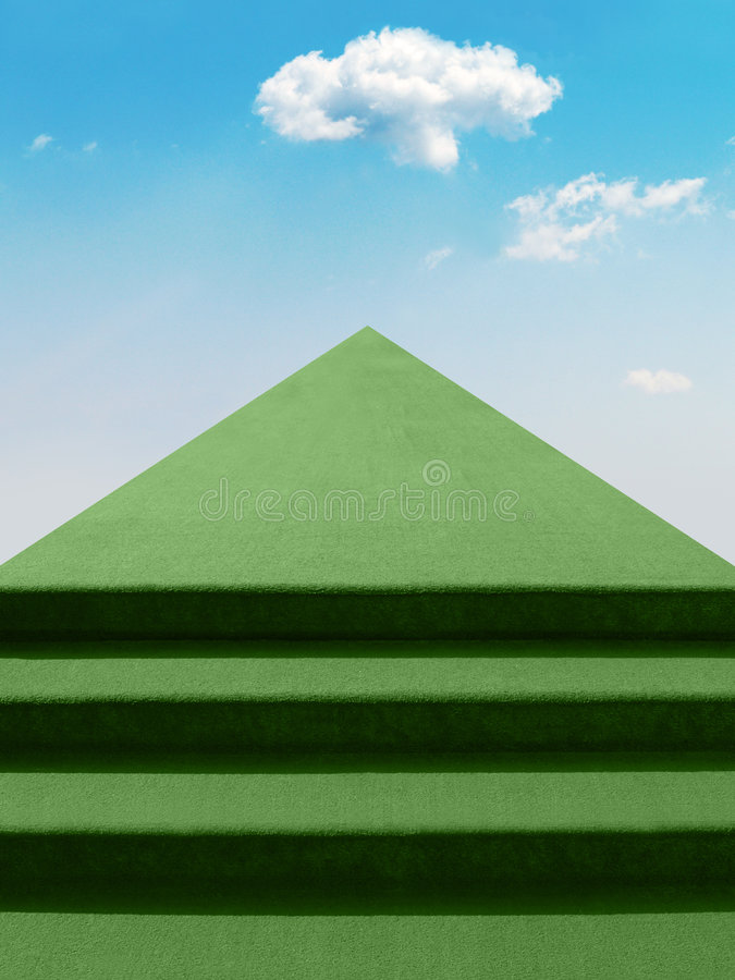 Download Stairway to the sky stock illustration. Image of path - 2780482