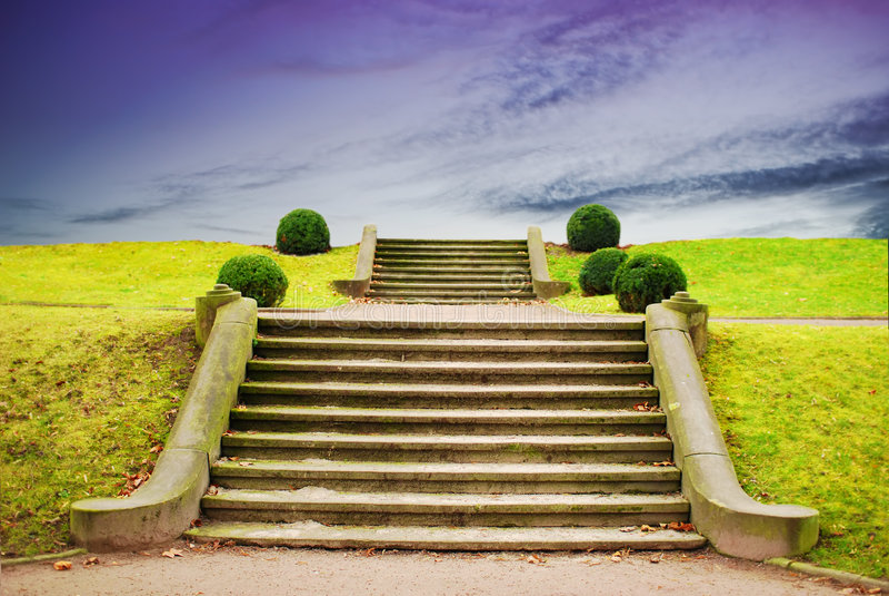 Stairway to Sky stock photo