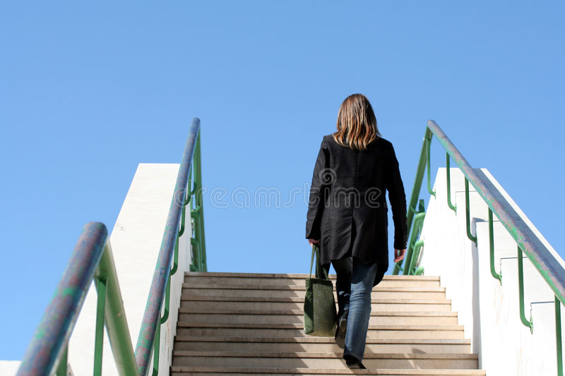 Download Stairway to the sky stock image. Image of challenge, discovering - 728243