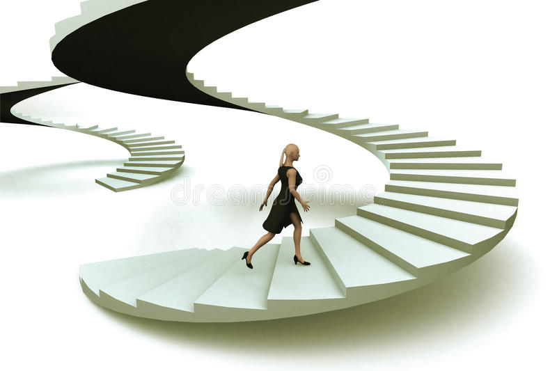 Stairway to success stock image