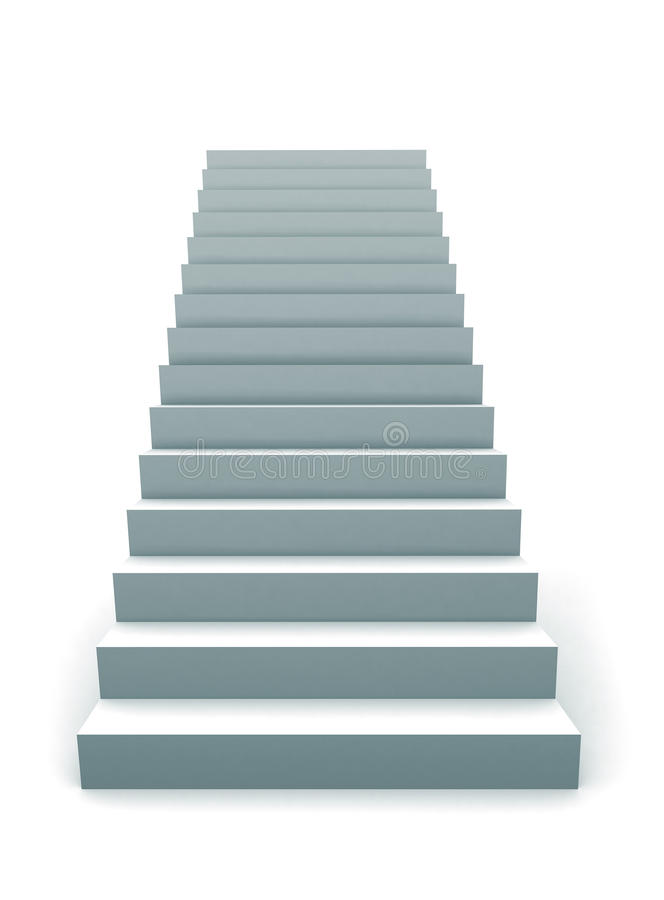 Stairway to success stock photo