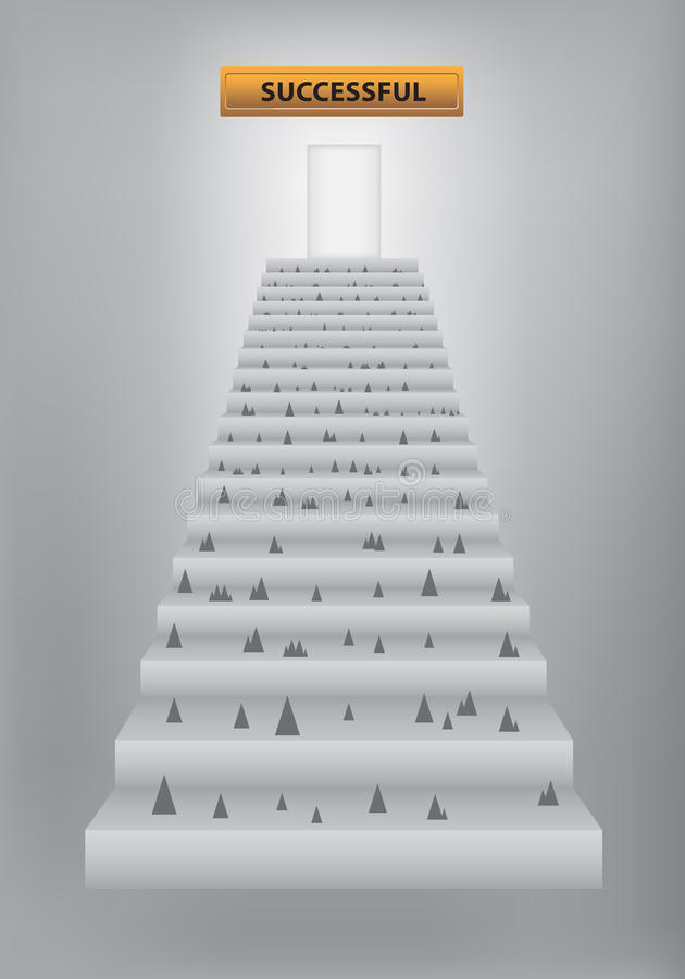 Download Stairway to success stock vector. Illustration of barrier - 25924925