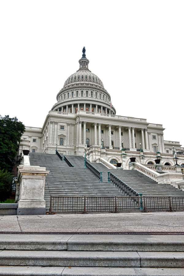 Stairway to United States Capitol in Washington DC royalty free stock image