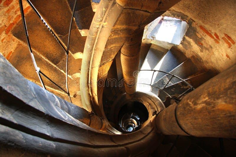 stairway velho surpreendente imagem de stock