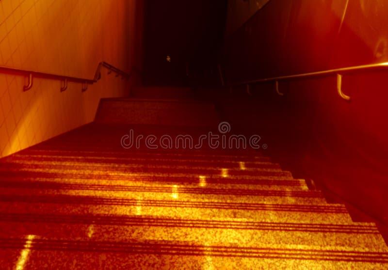 Stairways ao inferno imagem de stock