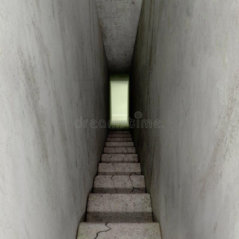 Stairways down stock illustration