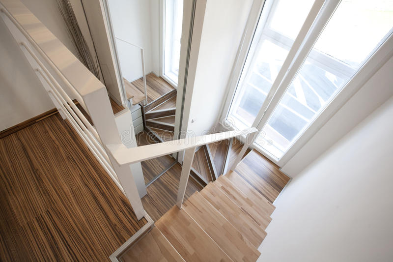 Stairways home interior design stock photo