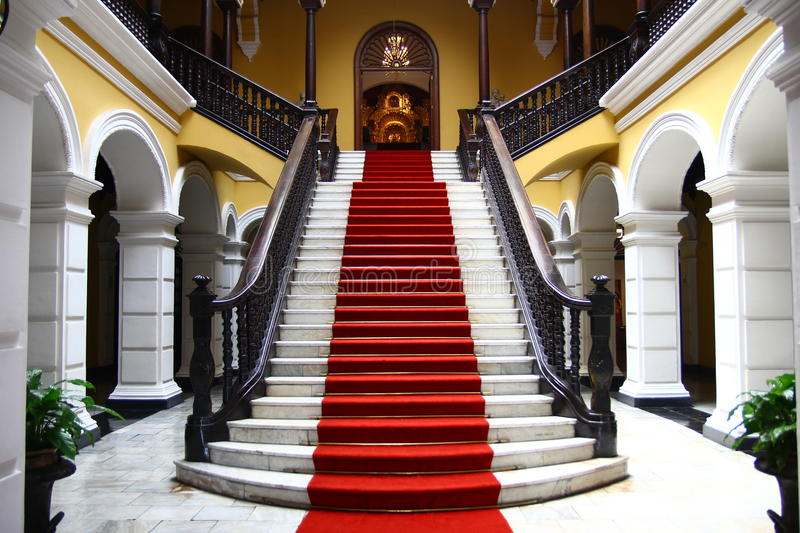 Stairwell in palace stock photography