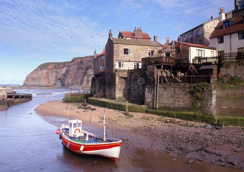 Staithes, litorale del Yorkshire immagine stock