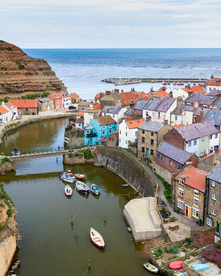 Staithes Yorkshire England UK royaltyfri foto