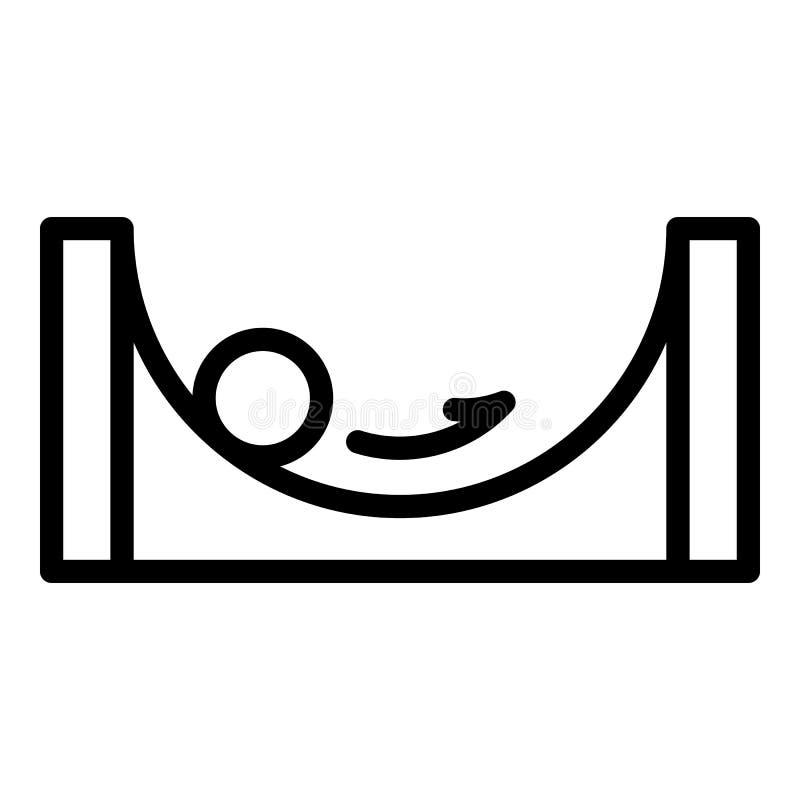Stajenki balansowa ikona, konturu styl ilustracji