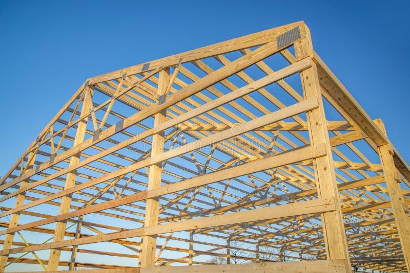 Stajni drewna otoczka obrazy stock